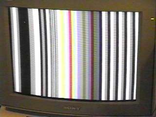 captured tv image of F21 generated test pattern on RGB montior
