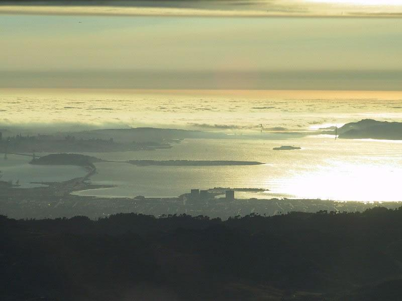 View of the Golden Gate from motorglider