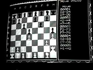 image of TV with chess game